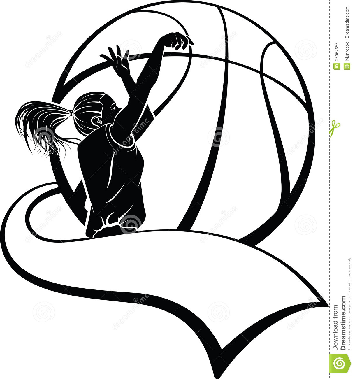Free Clipart Girl Basketball Player.