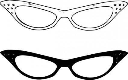 Round Glasses Clipart.
