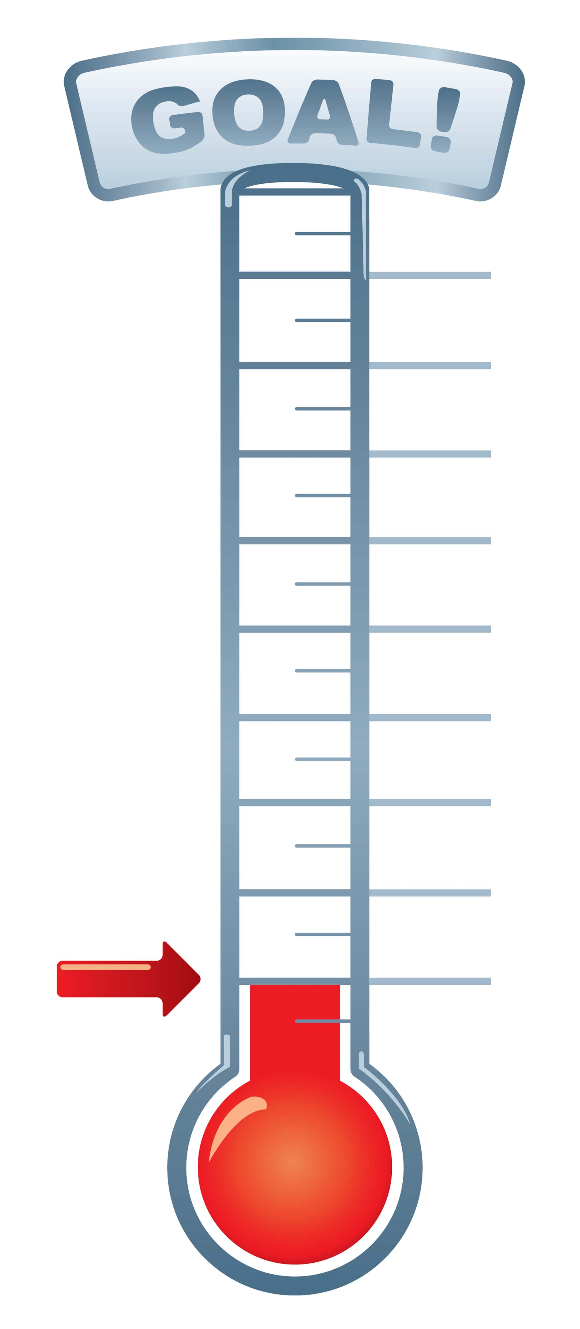 Goal Thermometer Clipart.