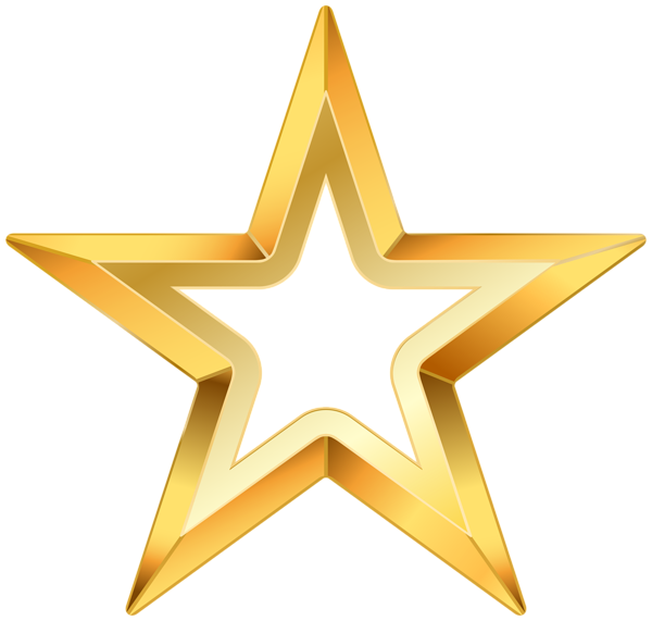 1308 Gold Star free clipart.