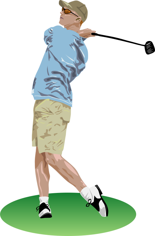 Free Clipart: Golf Drive.
