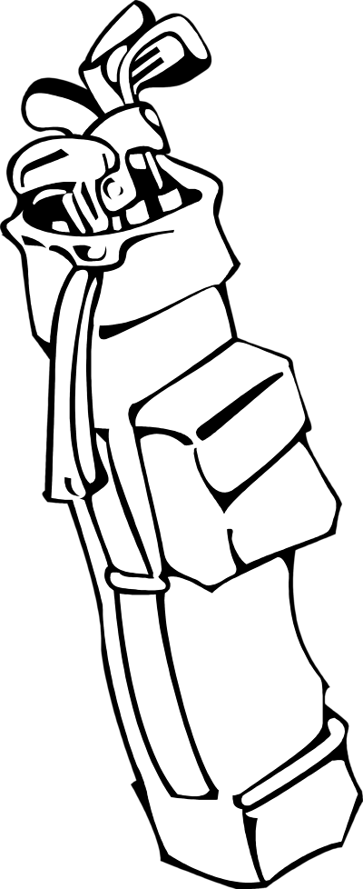 Golf Bag Clipart Black And White.