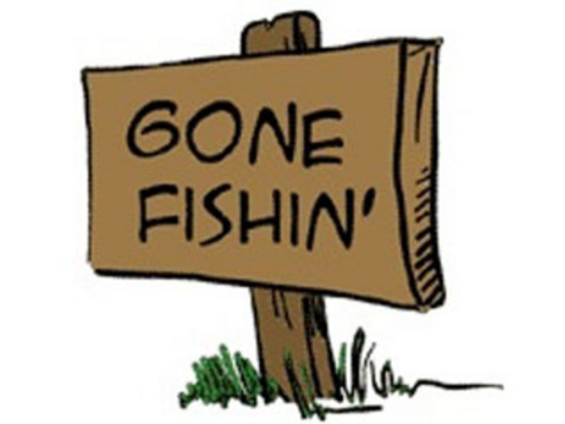 Gone Fishing Sign Free Clip Art.