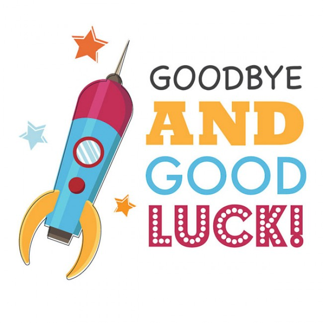 Goodbye and good luck clipart 2.