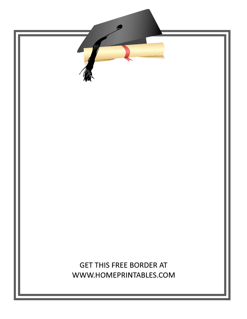 15 Free Graduation Borders {With 5 NEW Designs.
