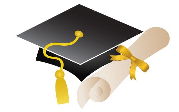 Free Clipart Graduation Cap And Diploma.