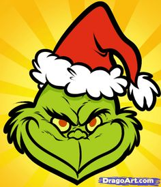 free clipart grinch holding ornament outline