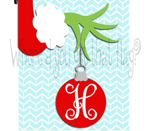 free clipart grinch holding ornament