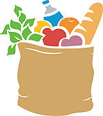 Free Brown Grocery Bag Clip Art.