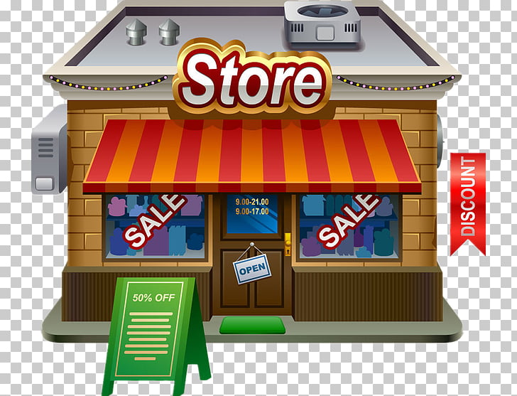 Grocery store Retail Free content, cartoon grocery store PNG.