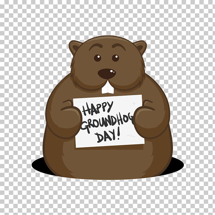 Bear Groundhog Day Punxsutawney Phil, bear PNG clipart.