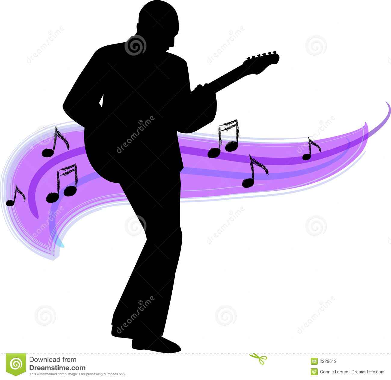 Free Clipart Guitar Player.