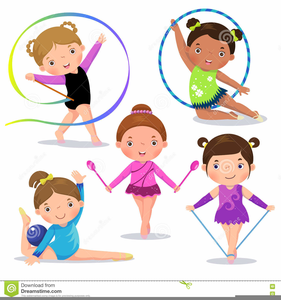 Gymnastic Girl Clipart.