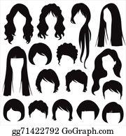 Hair Styles Clip Art.
