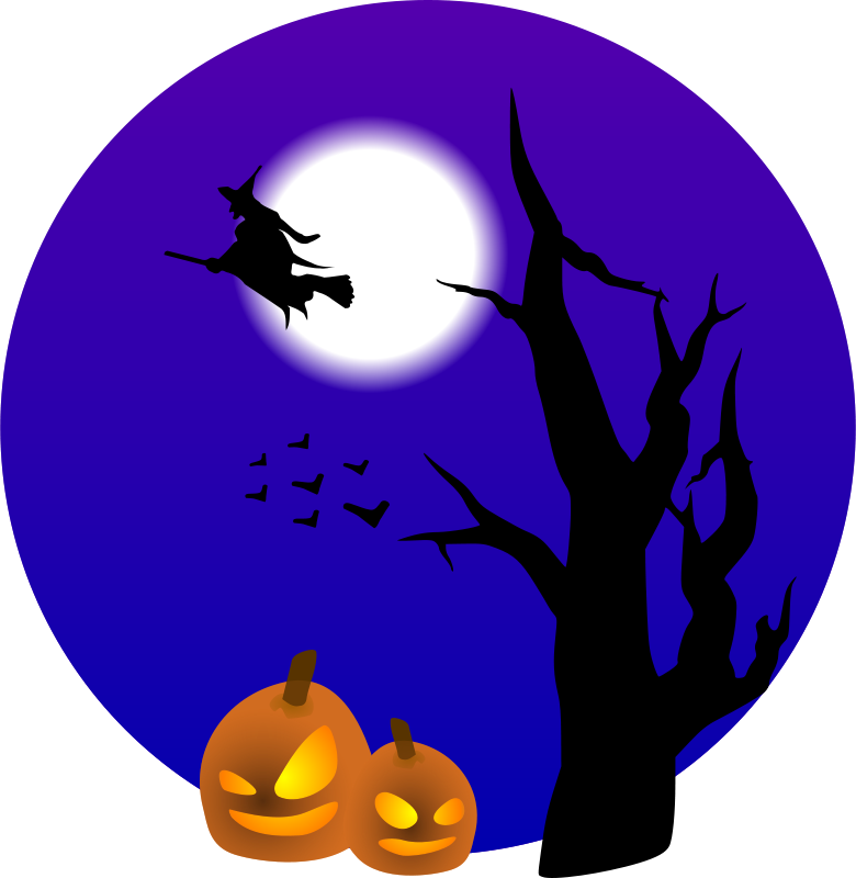 Free Clipart: Halloween scene.