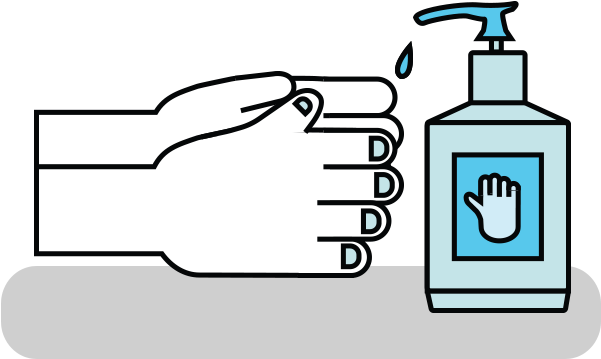 Download HD Picture Black And White Library Hand Sanitizer Clipart.