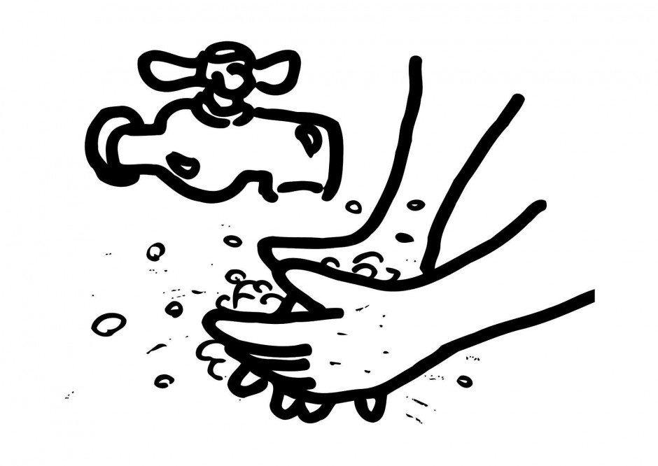Hand washing clipart free.