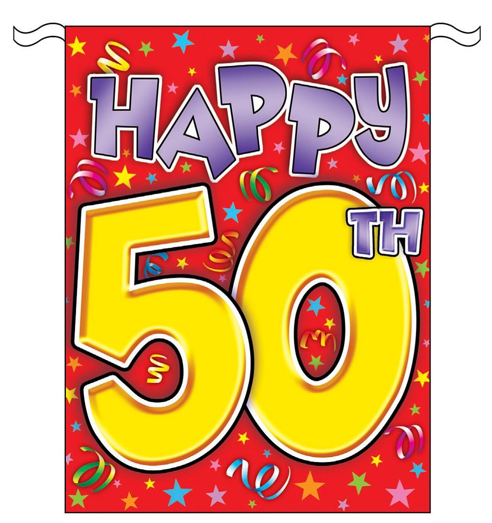 Happy 50th Birthday Clip Art Free N3 free image.