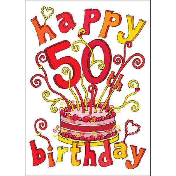 Happy 50th Birthday Clipart Activity 2733.