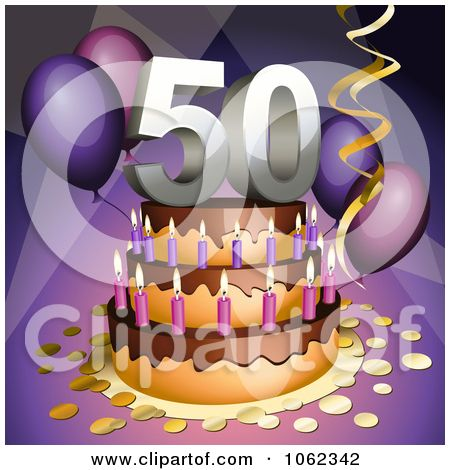 Happy 50th Birthday Clip Art.