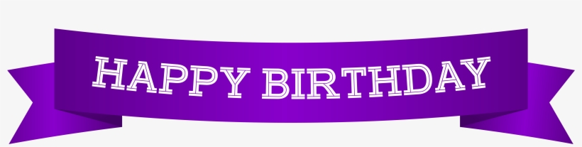 Happy Birthday Banner Purple Png Clip Art Image.