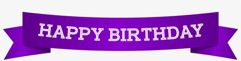 Happy Birthday Banner Purple Png Clip Art Image.