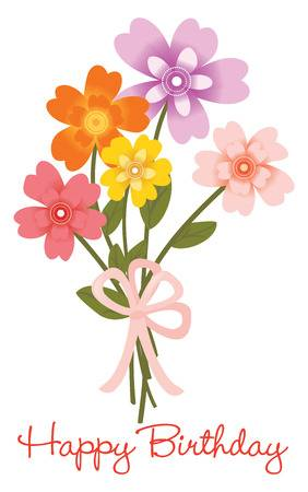 36,434 Happy Birthday Flowers Cliparts, Stock Vector And Royalty.