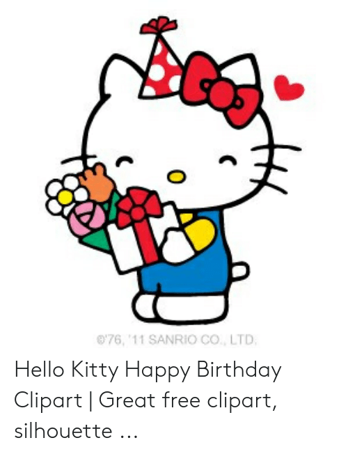 76 \'11 SANRIO Co LTD Hello Kitty Happy Birthday Clipart.