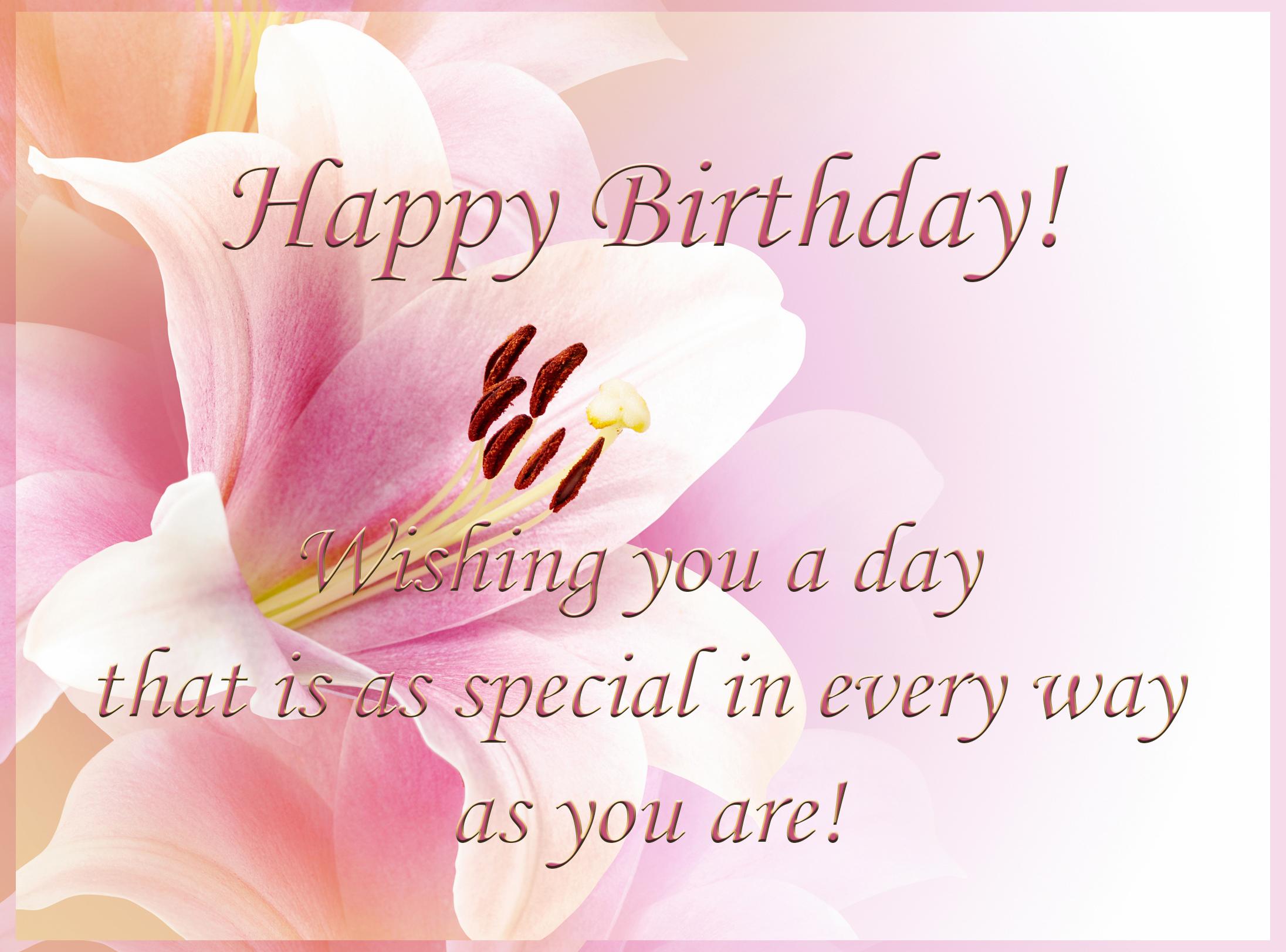 Happy Birthday Greeting Card.