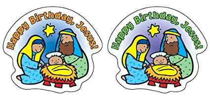 Amazon.com: Happy Birthday, Jesus! Shape Stickers: Toys & Games.