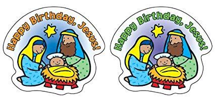 Amazon.com: Happy Birthday, Jesus! Shape Stickers: Toys & Games.