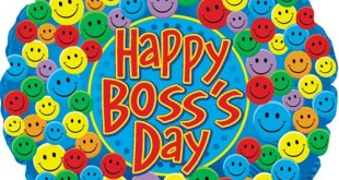 Beautiful Happy Boss\'s Day Clip Art Free.