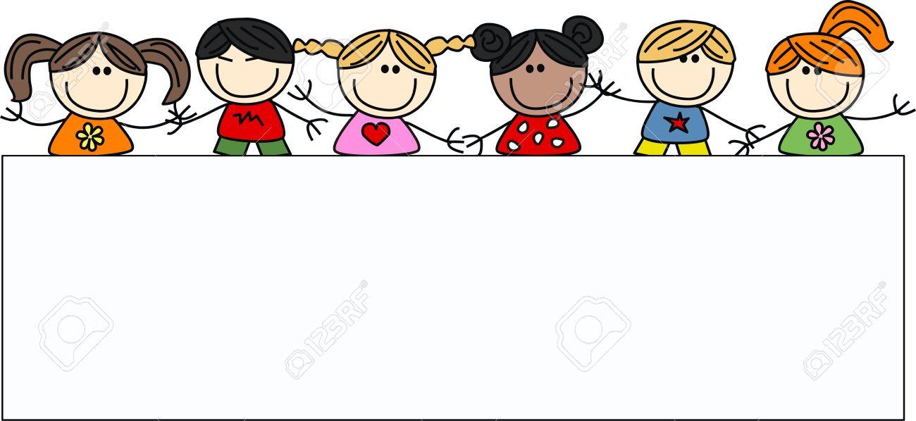 mixed ethnic happy children.