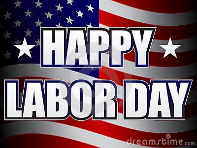 Happy Labor Day Clip Art Black And White.