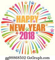 Happy New Year 2018 Clip Art.