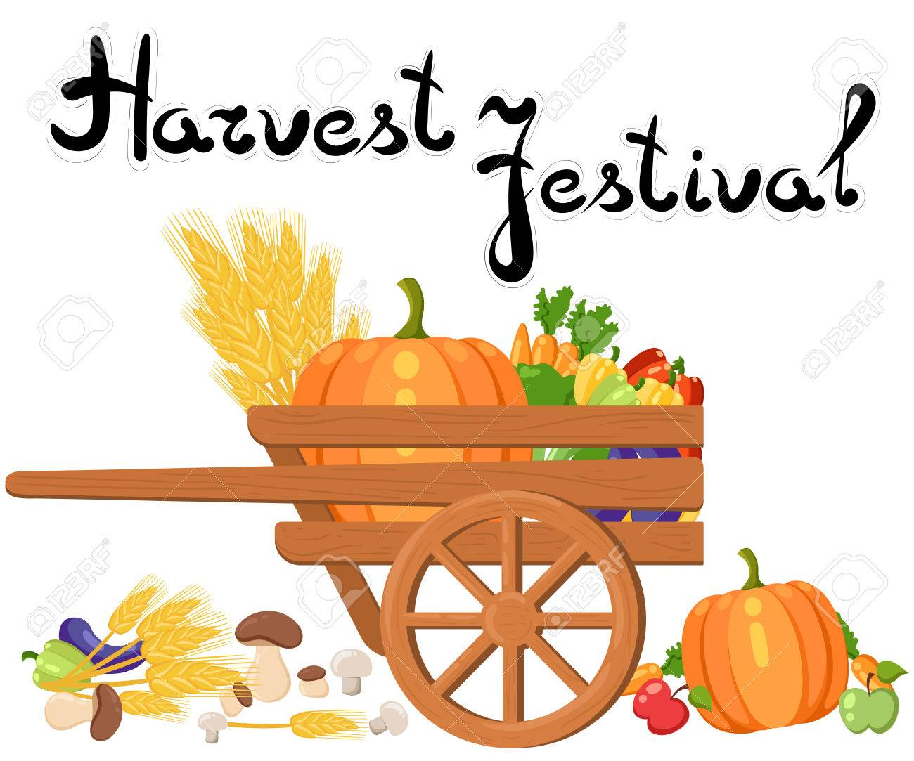 Harvest festival. Harvest fruits and vegetables. Autumn Collection...