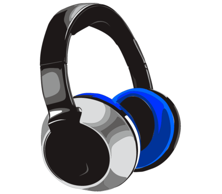 Free Headphones Vector Art Clipart Picture Free Download.
