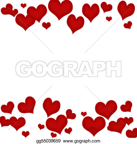 Valentines Day Border Stock Illustrations.