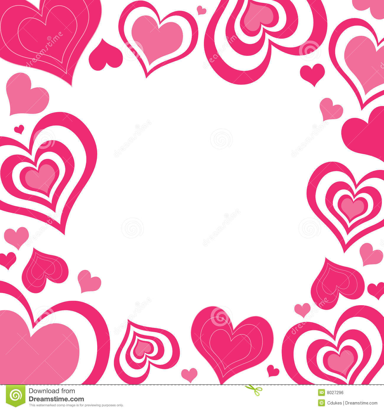 Free Clip Art Valentines Day Heart Border.