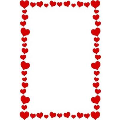 Free Clipart Heart Border.