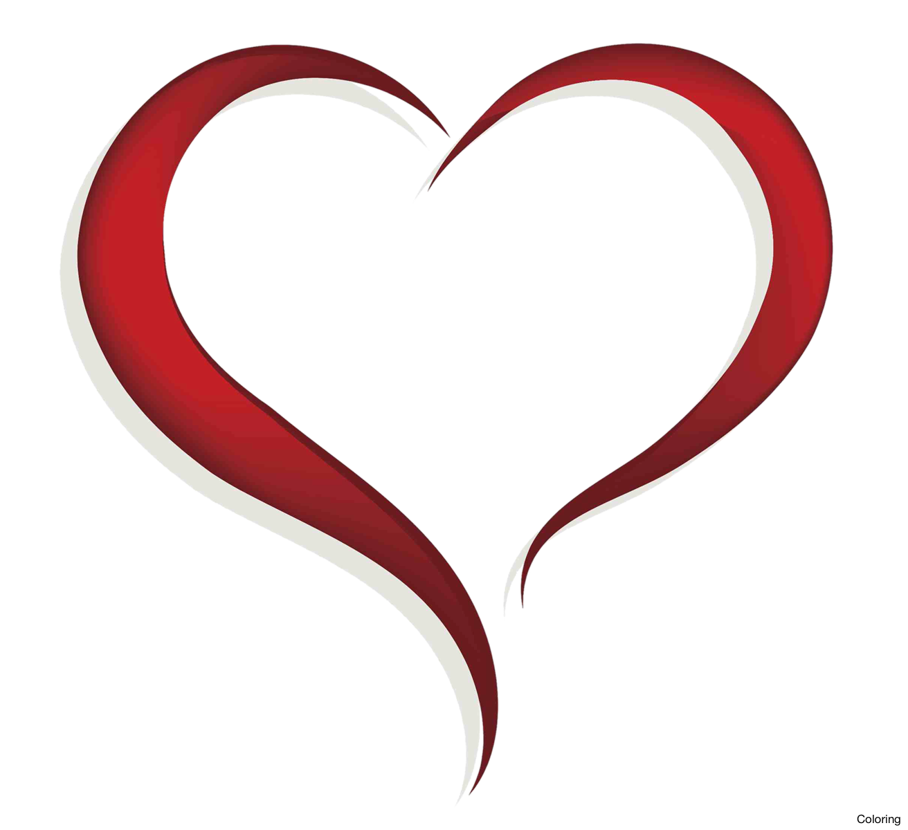 Coloring clipart heart, Coloring heart Transparent FREE for.