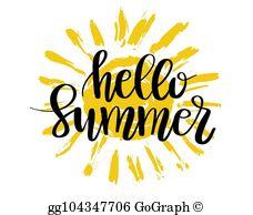 Hello Summer Clip Art.