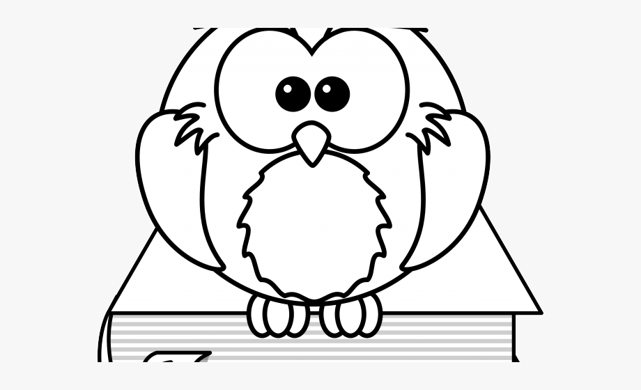 Black And White Cartoon Owls.