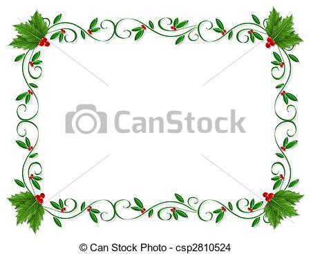 Christmas Holly Border ornamental on.