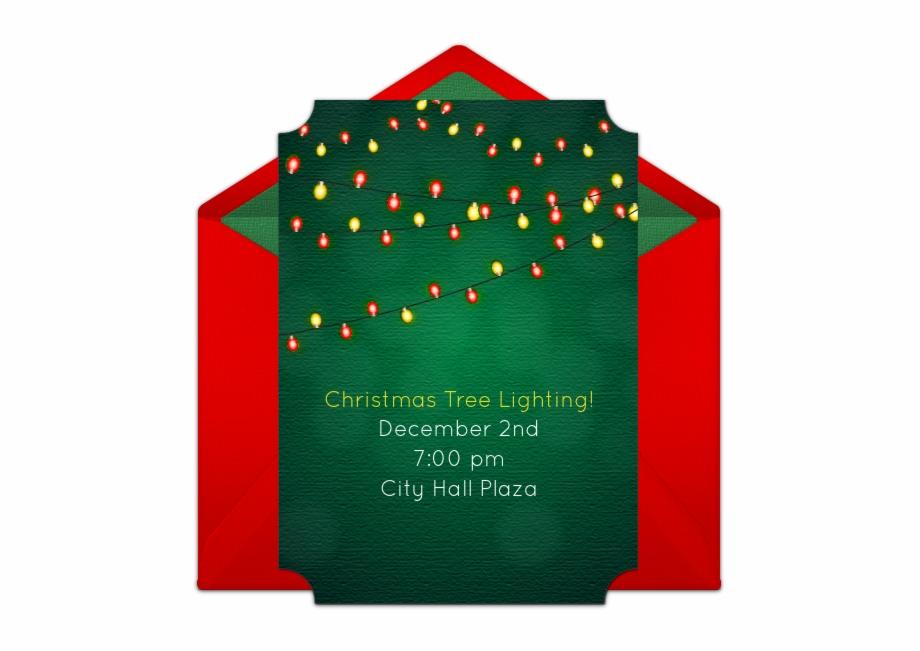 Holiday Lights Online Invitation.