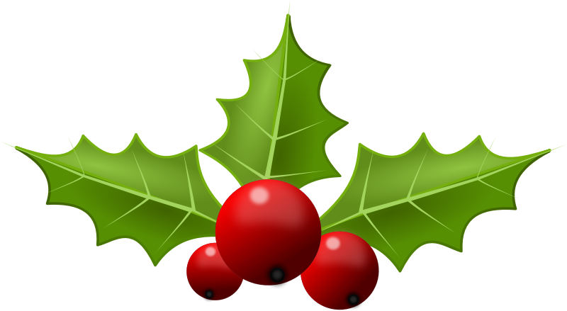 936 Christmas Holly free clipart.