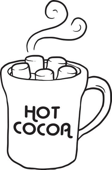 FREE Printable Hot Chocolate Winter Coloring Page for Kids.