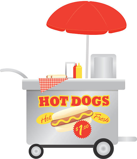 Hot Dog Stand Clip Art, Vector Images & Illustrations.