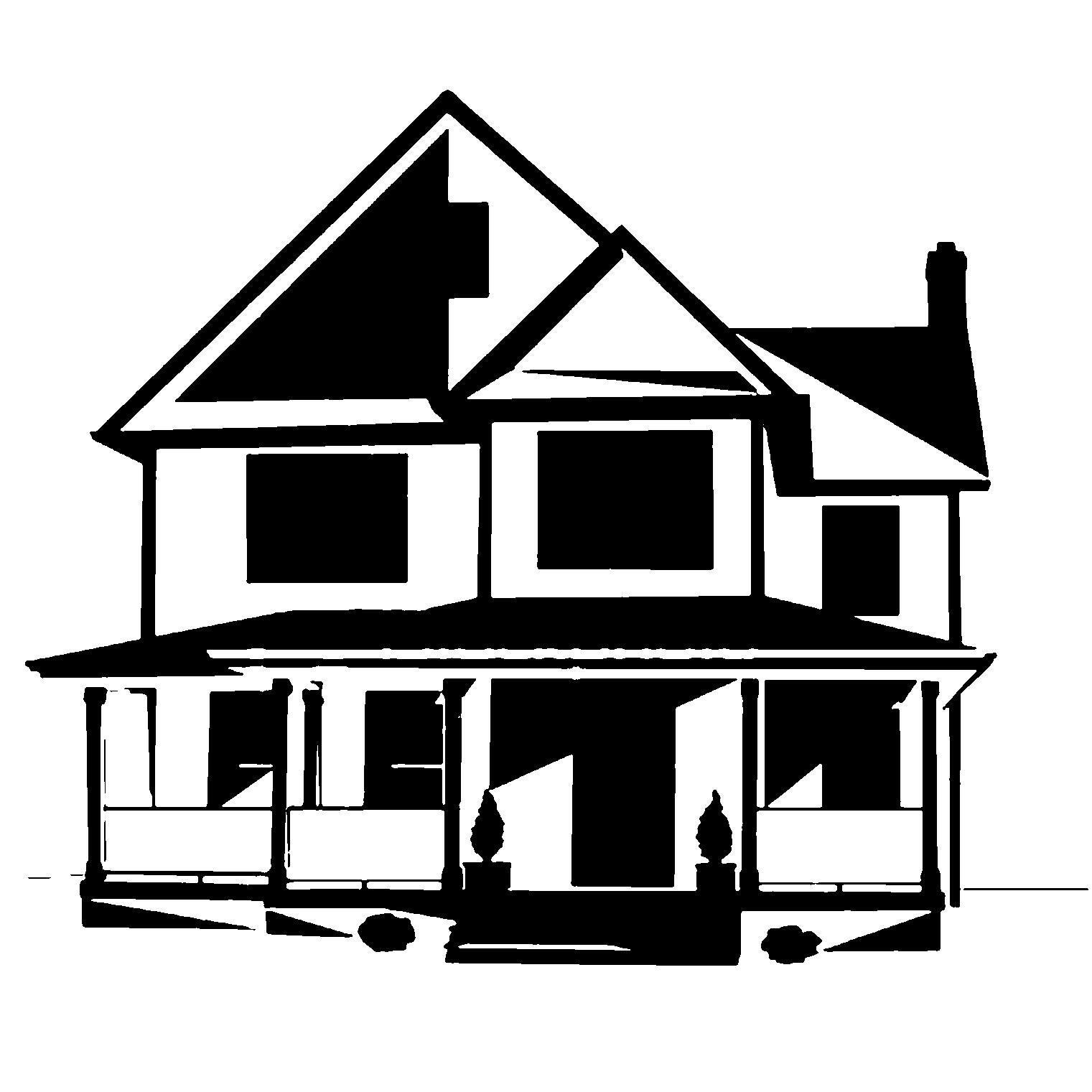 free clipart house silhouette - Clipground
