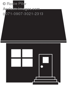 free clipart house silhouette clipground